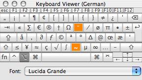 Alt Tastaturbelegung